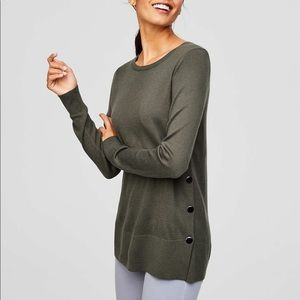 LOFT side button tunic sweater